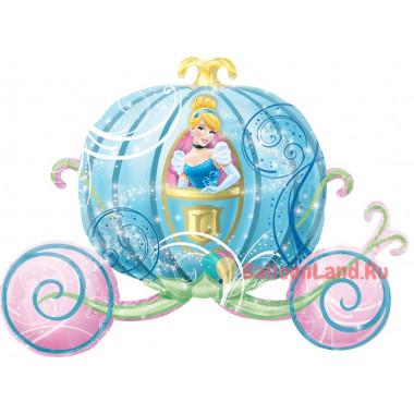 Фигурный шар Золушка в карете-тыкве