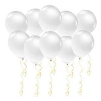 Воздушные латексные шары Белые - дополнительное фото #1