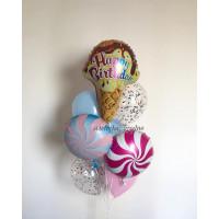 Букет шаров Мороженное с леденцами