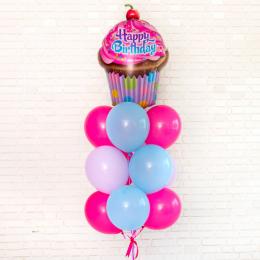 Фонтан из воздушных шаров с Шоколадным Тортом