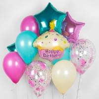 Набор воздушных шариков с Розовым Кексом