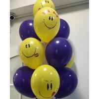 Фонтан из воздушных шариков со Смайликами Улыбками