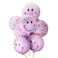 Букет шариков Розовые смайлы