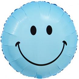 Шар-круг Голубой смайлик