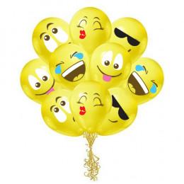 Шары Смайлы Эмоции желтые