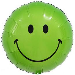 Шар-круг Зеленый смайлик