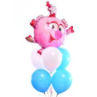 Букет из воздушных шариков с персонажем Нюша Смешарики
