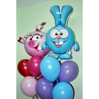 Набор воздушных шаров Смешарики с Нюшей и Крошем