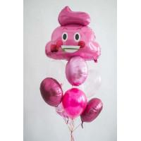 Букет в розовой гамме со Смайликом