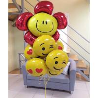 Букет фольгированных шаров Смайлики