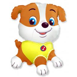 Фигурный шар Весёлая собака в жёлтой майке