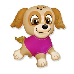 Фигурный шар Щенок в розовой кофте