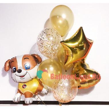 Букет шаров с гелием Собачка