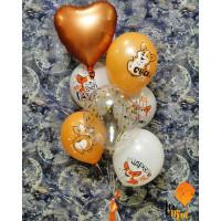 Букет гелиевых шариков Поздравления от Корги