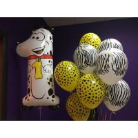 Сет шаров на один годик Далматинец