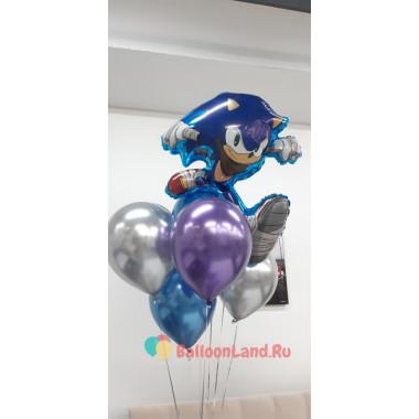 Букет из шариков с ежиком Соником