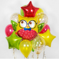 Набор красочных шаров Филин в очках