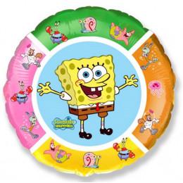 Шар-круг разноцветный Спанч Боб