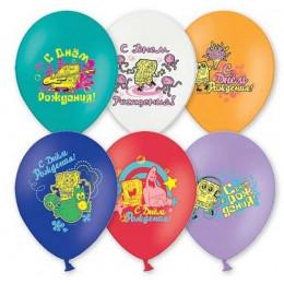 Воздушные шары С днём рождения, Спанч Боб
