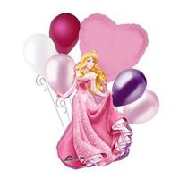 Букет шариков Принцесса Аврора с сердцем