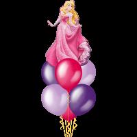 Фонтан из шаров с героиней сказки Спящая Красавица