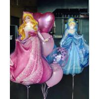 Композиция из гелиевых шаров Принцесса Аврора Спящая Красавица и Золушка