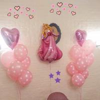 Композиция из шаров с гелием Спящая красавица в розовых тонах