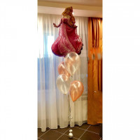 Букет гелевых шаров со Спящей красавицей Авророй