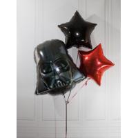 Набор шаров с гелием Дарт Вейдер со звездами