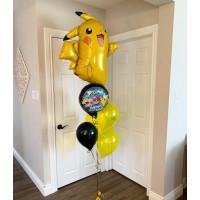 Букет из шариков с героем м/ф Покемоны Пикачу