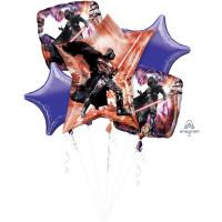 Набор гелиевых шаров с персонажем фильма Звездные войны Дартом Вейдером со звездами