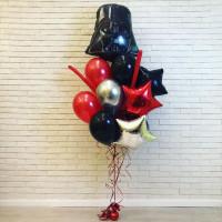 Букет воздушных шаров со Шлемом Дарта Вейдера и звездами