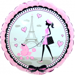 Шар-круг Девочка с Парижа