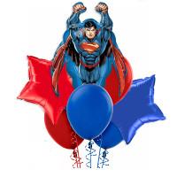 Букет шаров с фигурой Супермен