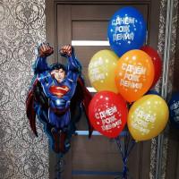 Композиция из шаров на День Рождения с Суперменом