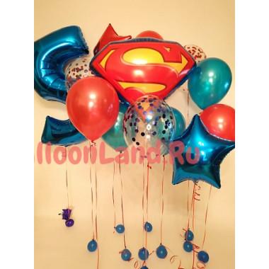 Композиция из воздушных шаров Супермен