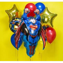 Сет шаров Супермен со звёздами