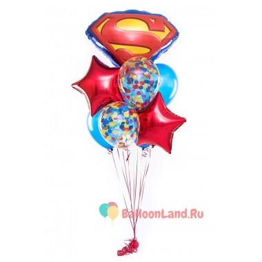 Букет воздушных шаров Супермен