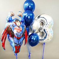 Сет шаров Супермен с цифрой