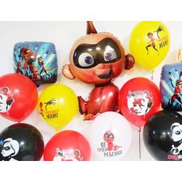 Сет из воздушных шариков Суперсемейка с Джек-джеком и шарами для супермамы