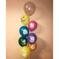 Фонтан из воздушных шариков для Супермамы на 8 марта