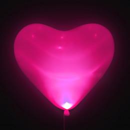 Шары-сердца Светящиеся, розовые, 40 см