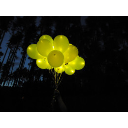 Светящийся шар жёлтого цвета
