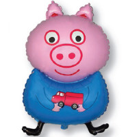 Фигурный шар Попросёнок Джорж, братик свинки Пеппы