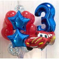 Сет шаров на День Рождения Тачки с цифрой