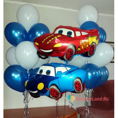 Композиция из воздушных шаров Тачки, с двумя Машинками