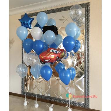 Композиция из воздушных шаров Тачки