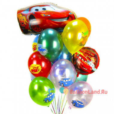 Букет воздушных шаров Тачки