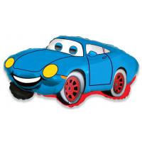 Фигурный шар голубая Машинка