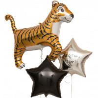 Набор шаров Тигр с вашей надписью